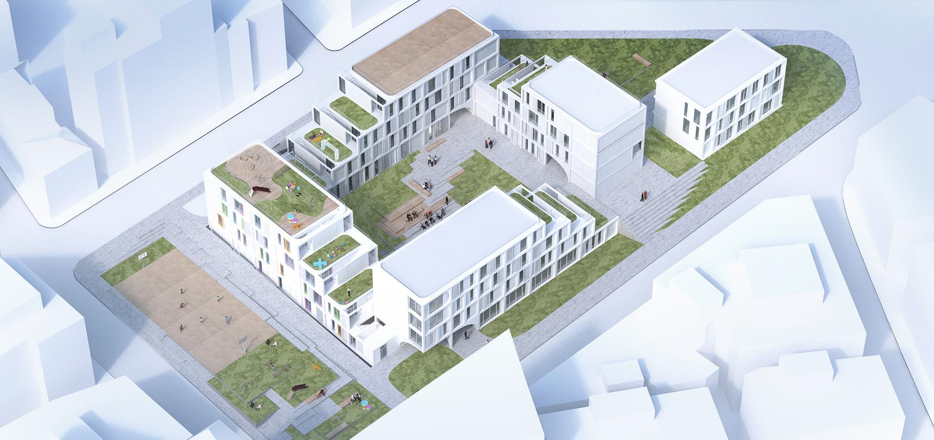 sastudio Tiago Sá architecture tessaloniki greece community center refugee memorial kindergarden social housing
