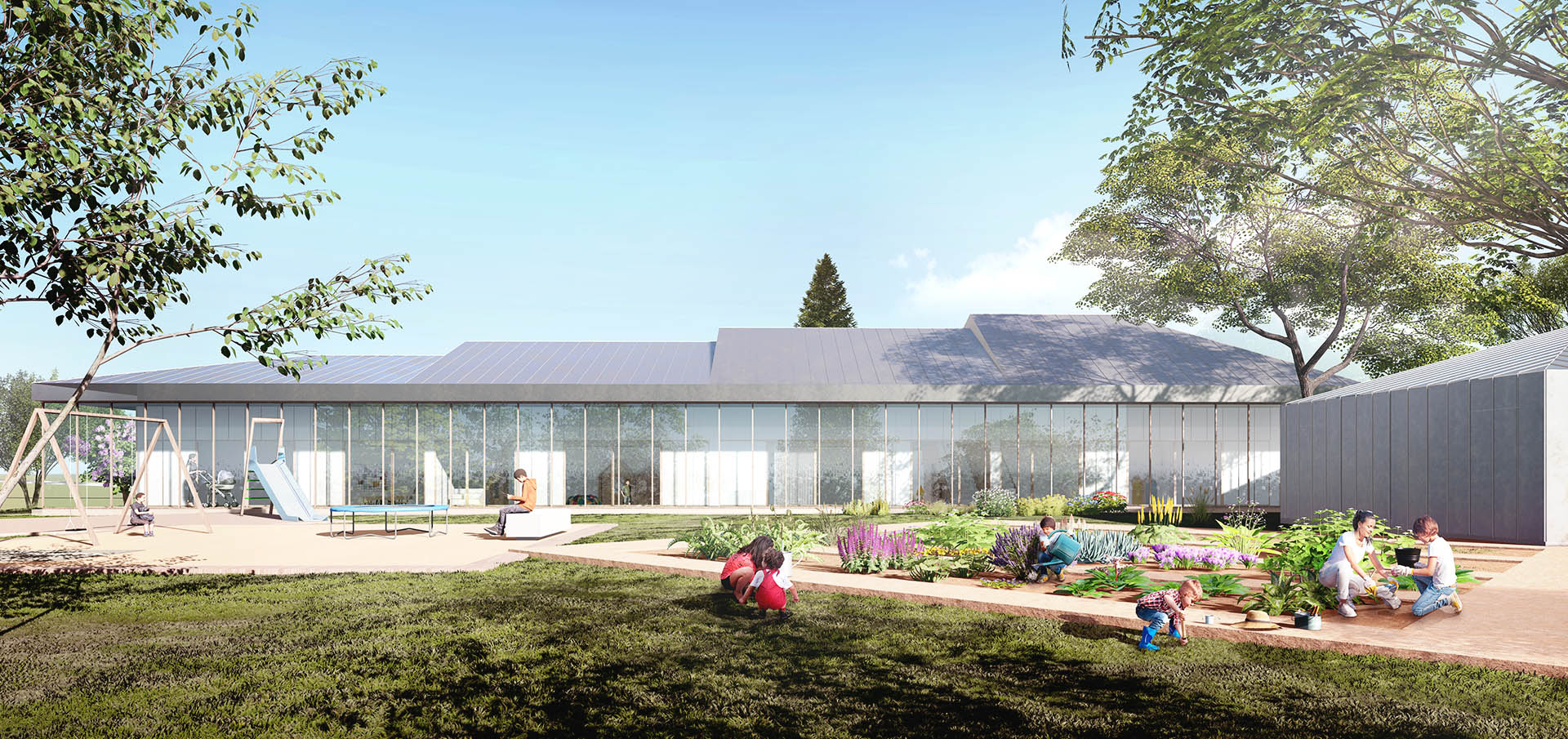 sastudio architecture kindergarden prague