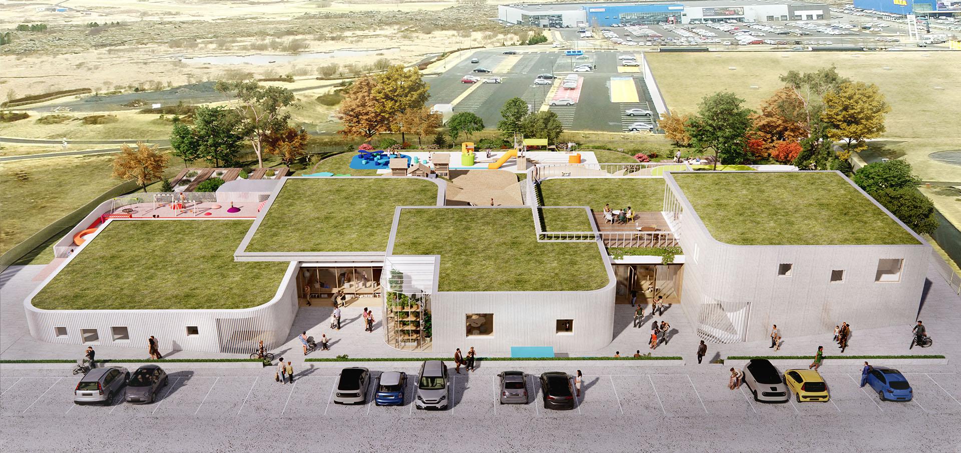 sastudio Tiago Sá architecture iceland kindergarten winner 1st prize first arquitetura